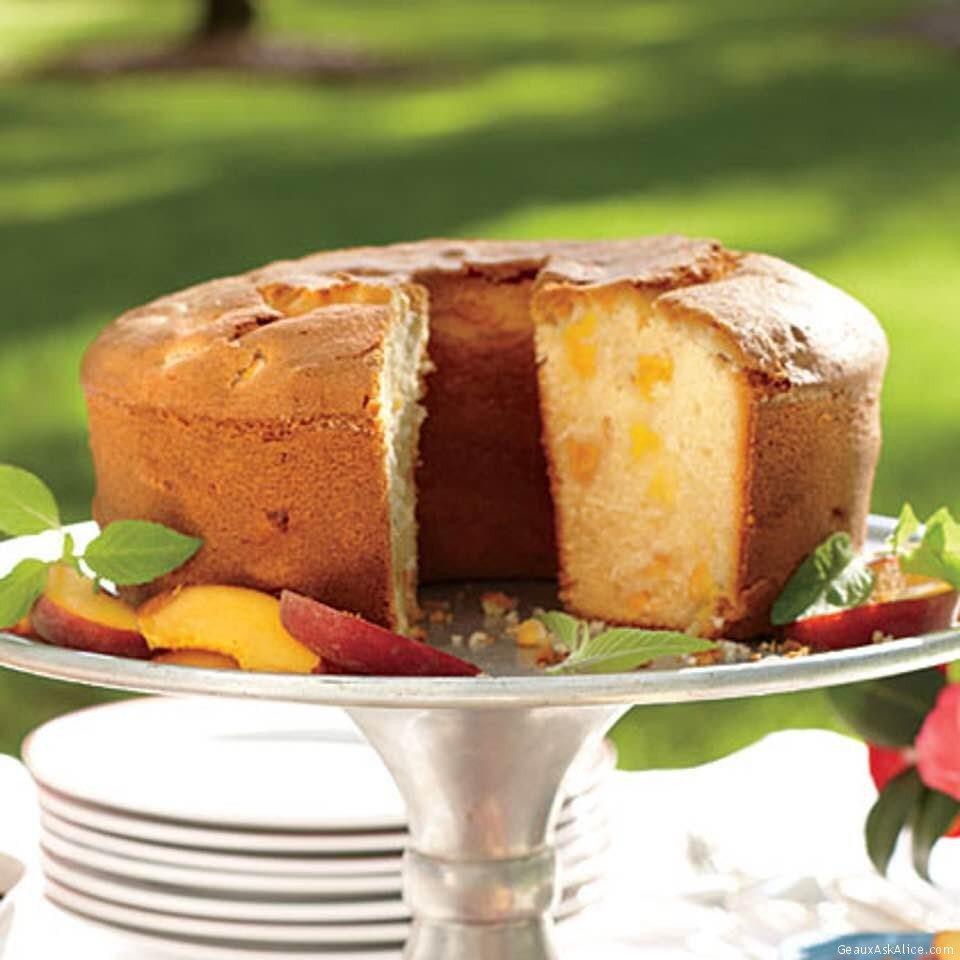 Heavenly Fresh Peach Pound Cake