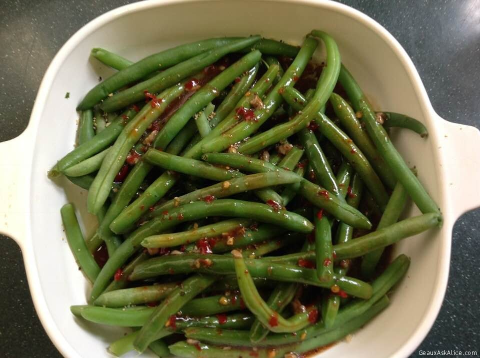 Roasted Green Beans With Lemony Anchovy Paste Sauce