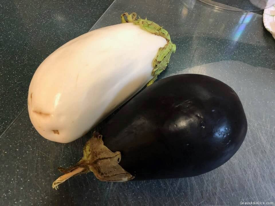 Got These Two Beautiful Eggplants From One Of Hubby's Secretaries.