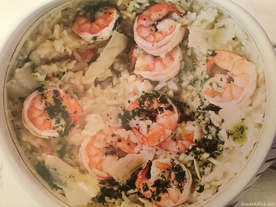 Cheater Baked Shrimp Risotto