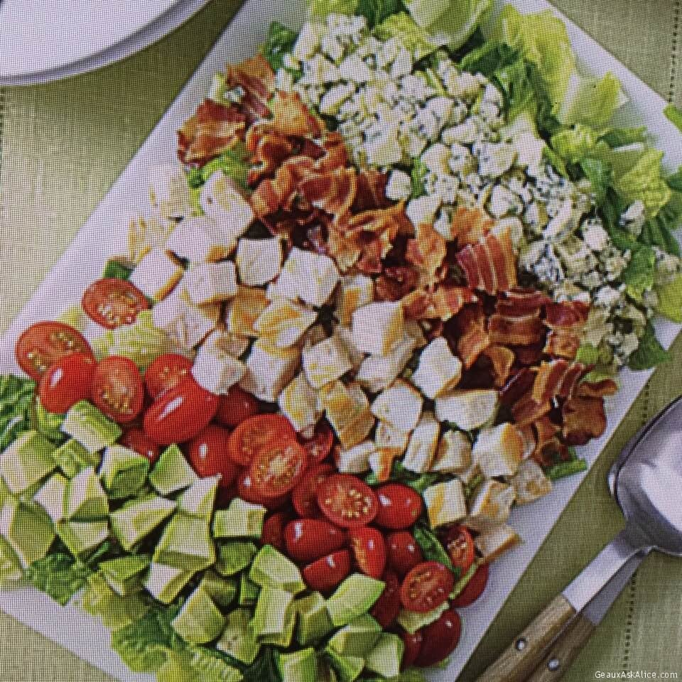 Quick And Easy Cobb Salad With Tangy Yogurt Dressing
