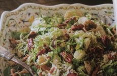 Zesty Shredded Brussels Sprout And Bacon Salad