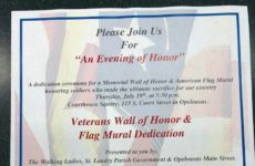 Just A Reminder. Tomorrow Is The Ceremony Honoring Our Veterans! Come Join And Show Your Support!