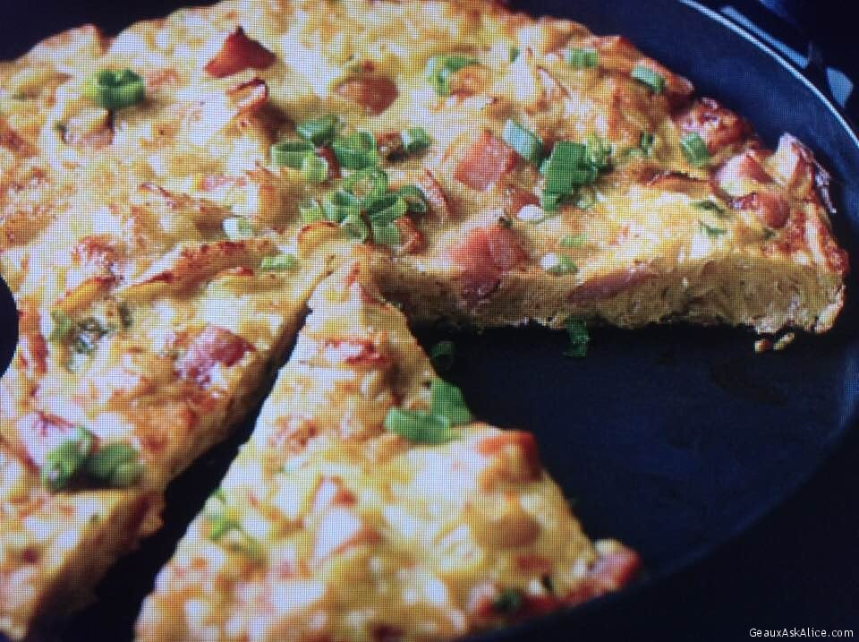 Spicy Ham And Potato Chip Tortilla Omelet