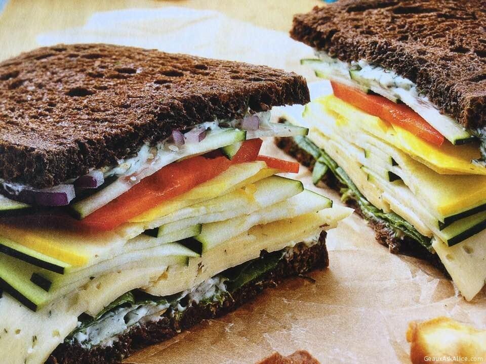 Stacked Veggie Sandwich