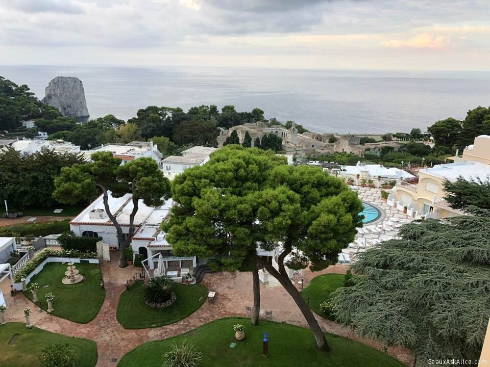 Good Morning from Capri  My view this beautiful day  Yesterday a big