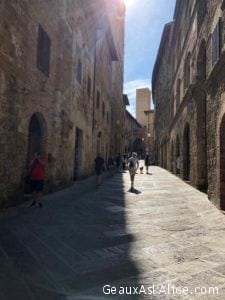 Our day trip to Tuscany area. Here is San Gimignano