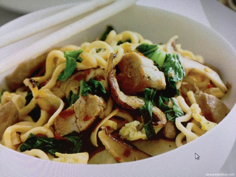 Asian Noodle Stir Fry With Pork