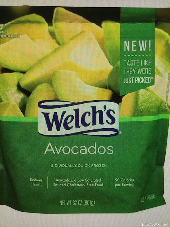 Today's Product Is Welch's Frozen Avocados!