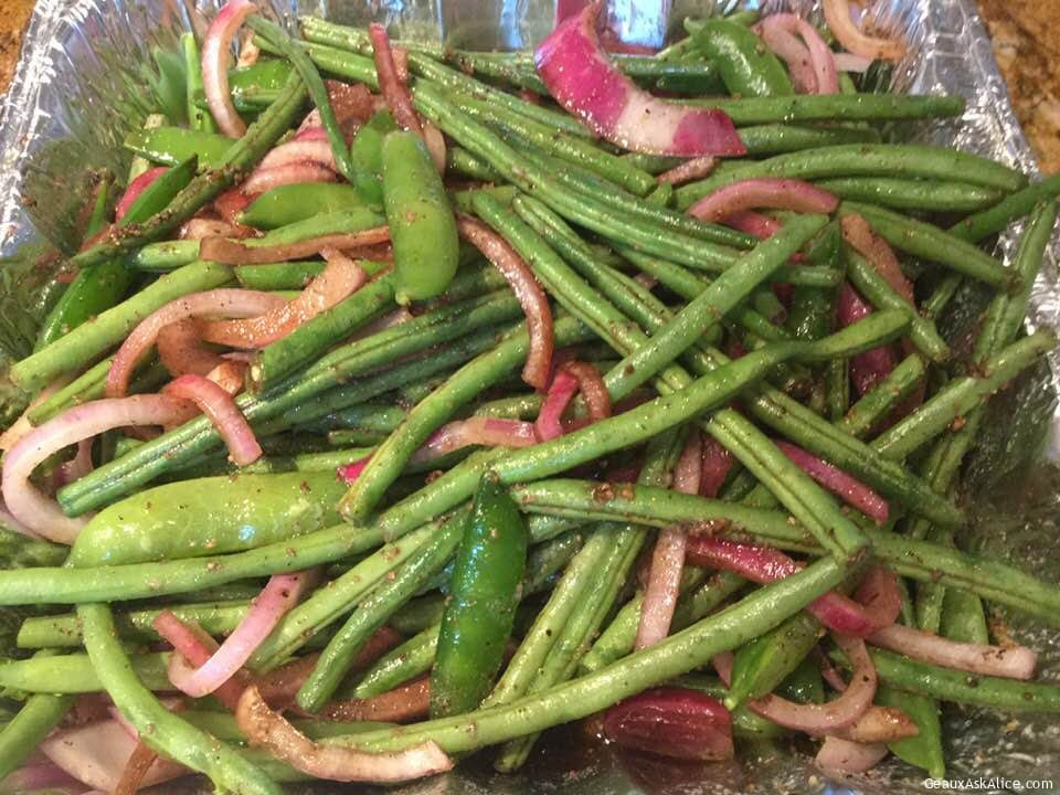Zesty Sweet Sugar Snaps And Fresh Green Beans