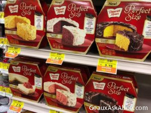 Today's Product is the Duncan Hines Perfect Size Cake for One Desserts!