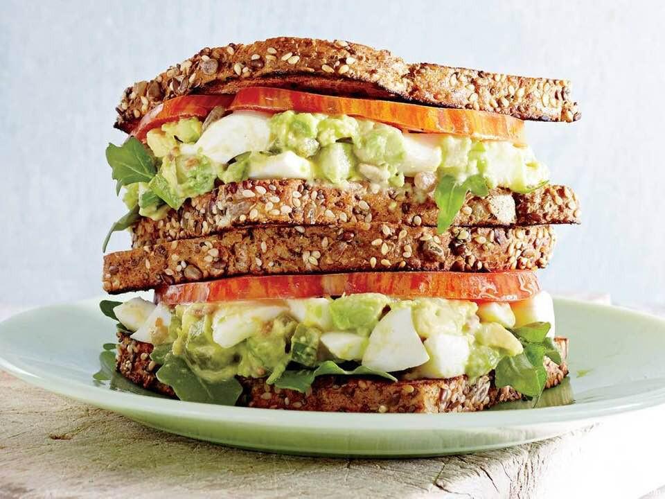 Amazing Avocado-Egg Salad Sandwiches