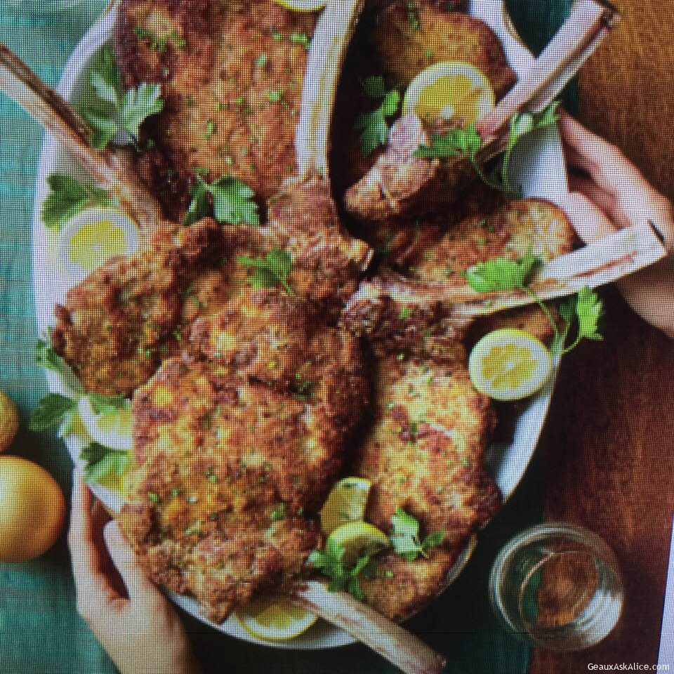 Lemony Veal Chops Milanese