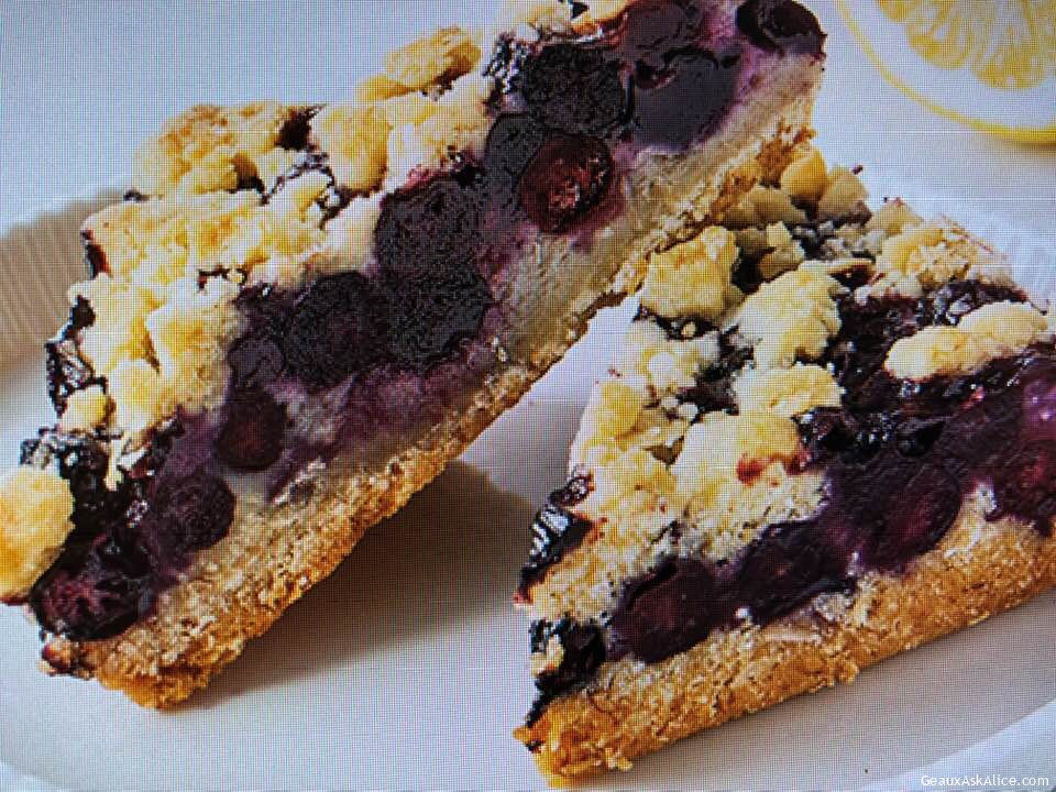 Magnificent Lemony Blueberry Bars