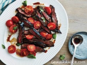 Quick Balsamic Grilled Flank Steak