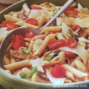 Roasted Mushroom and Tomato Pasta Salad
