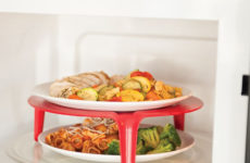 Today's Gadget Is The Plastic Microwave Plate Stacker!