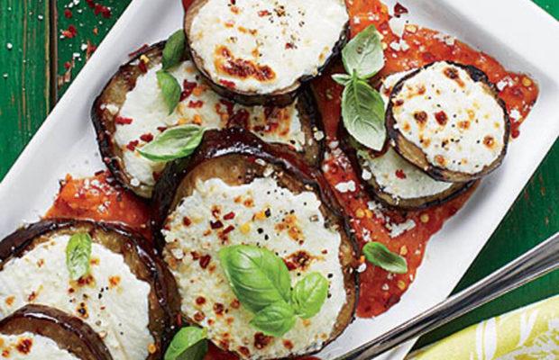 Grilled Eggplant Parmesan With Tomato Marinara