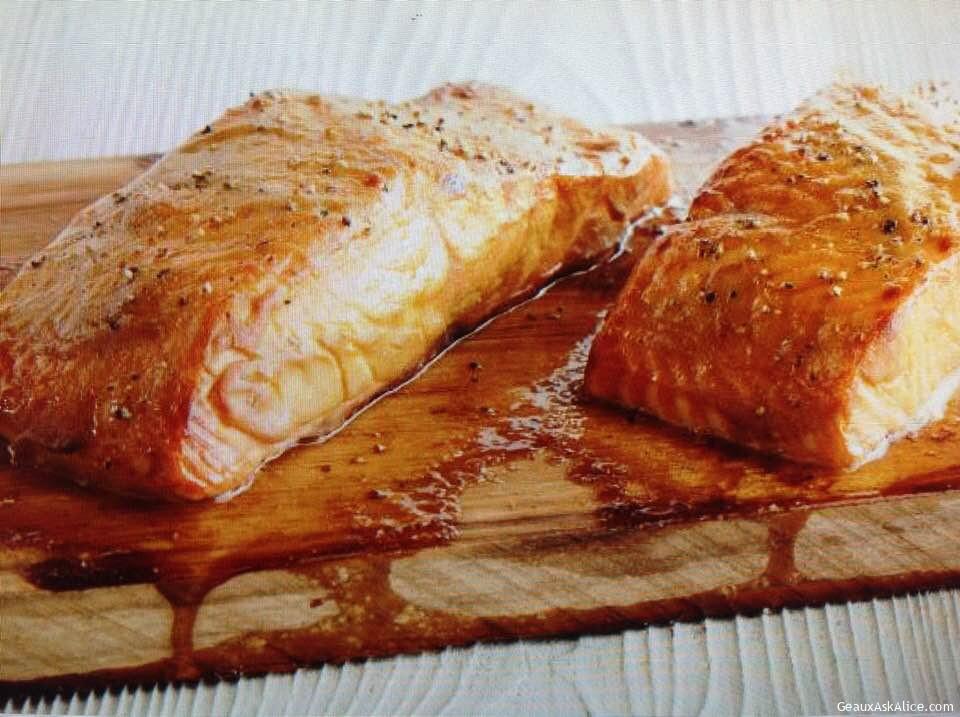 Grilled Salmon On Cedar Planks
