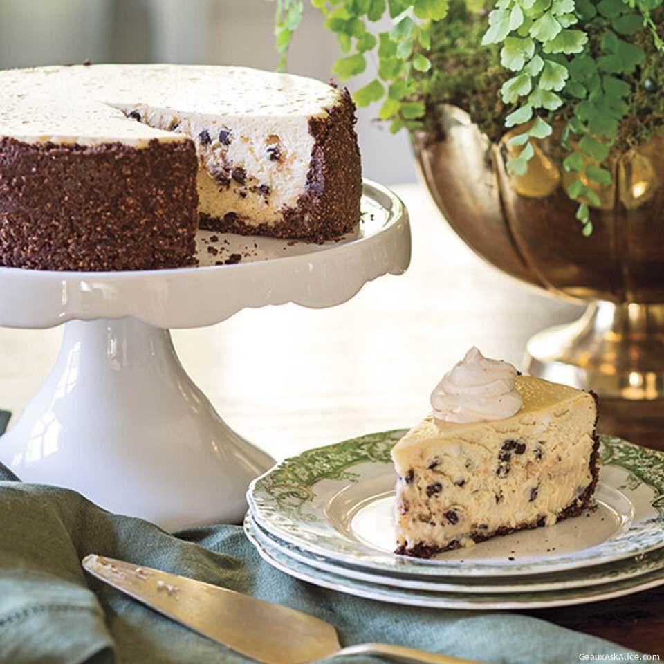 Luck Of The Irish Cream Chocolate Cheesecake