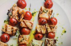 Cherry Tomato-Salmon Skewers