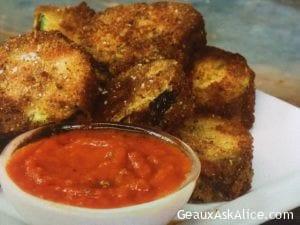 Crispy Fried Mozzarella Stuffed Zucchini