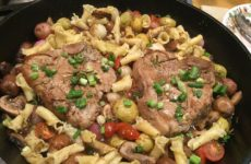 Fabulous Pan-Seared Marsala Veal Chops With Veggies And Pasta