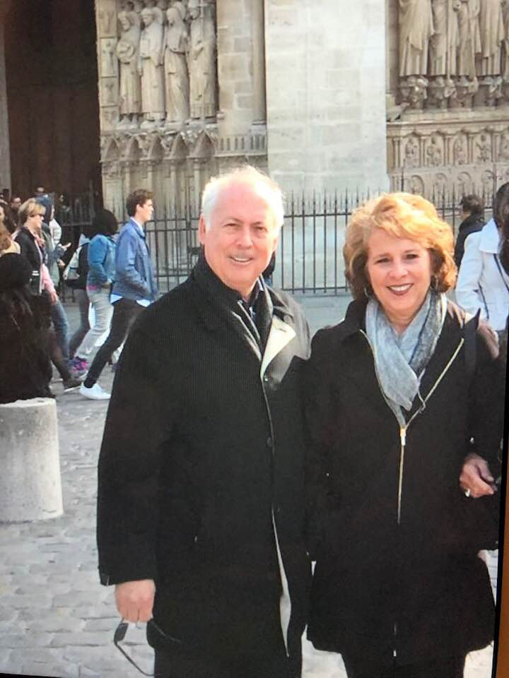 Hubby And I Remembering Our Wonderful Visit To The Fabulous Notre Dame! My Heart So Sad, For The World Has Suffered A Great Loss! Prayers For A Recovery Of Sorts!