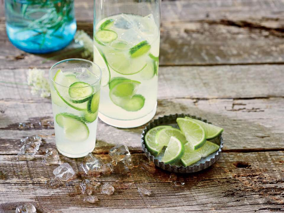 Refreshing Cucumber-Lime Infused Gin And Tonic