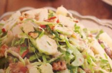 Shaved Brussels Sprouts With Bacon Vinaigrette