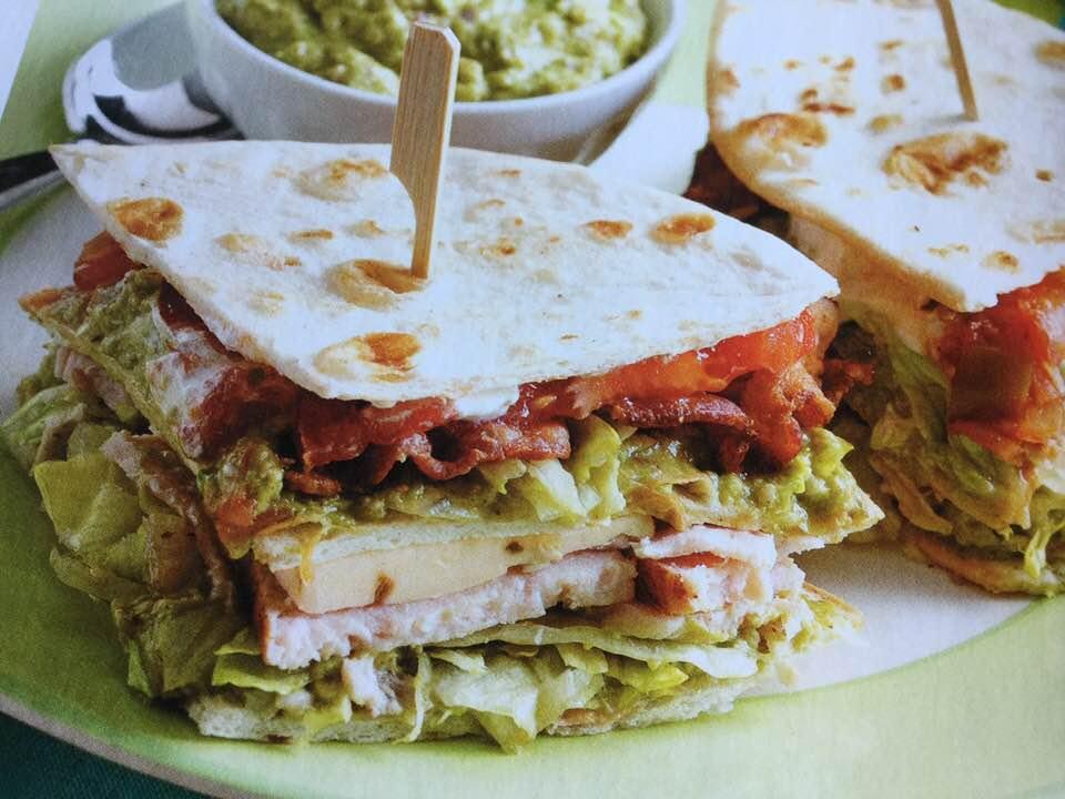 Zesty Mexican Club Sandwich