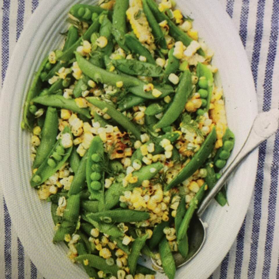 Fresh Grilled Corn And Zesty Snap Pea Salad