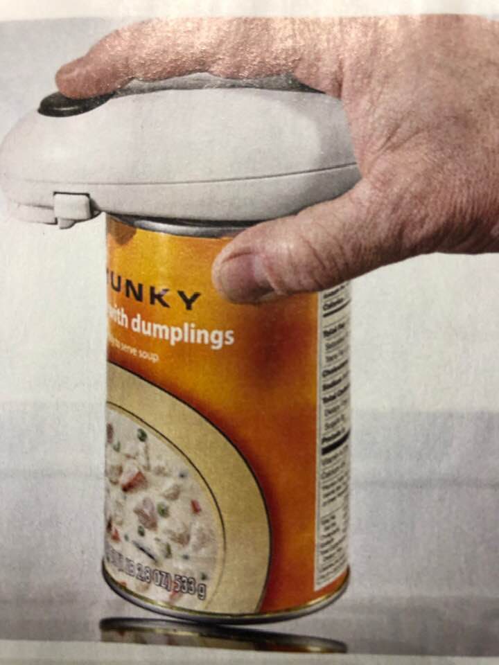 Today's Gadget Is The One Touch Can Opener!