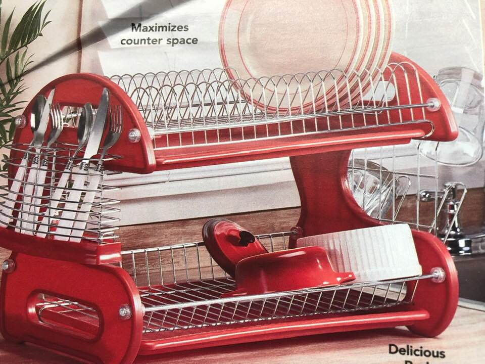 Two Tier Dish Rack.