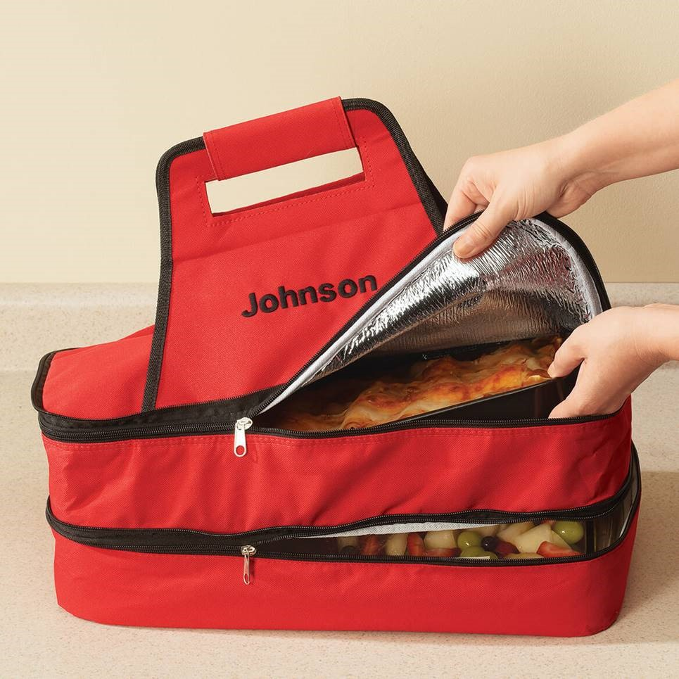 Today's Gadget Is The Double Decker Insulated Food Travel Tote!