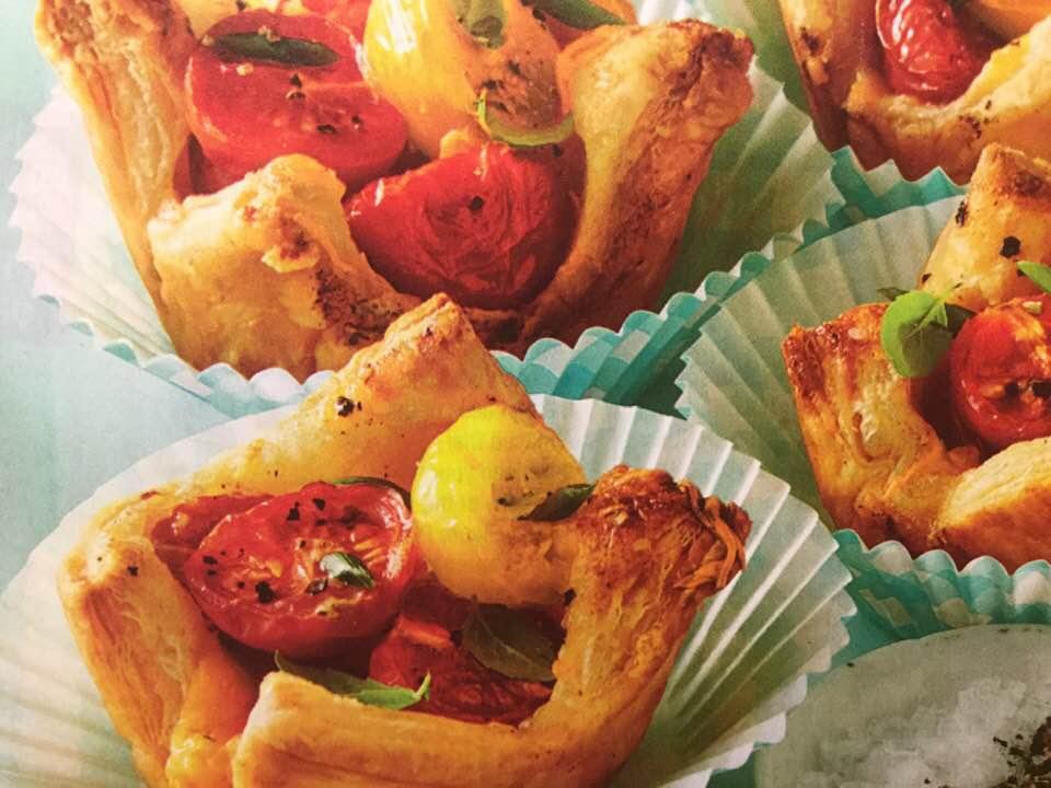 Tiny Tangy Tomato Tarts