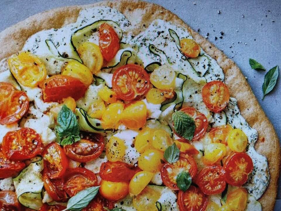 Unique Zucchini Ricotta Pizza