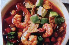 Spicy Shrimp And Avocado Tortilla Soup