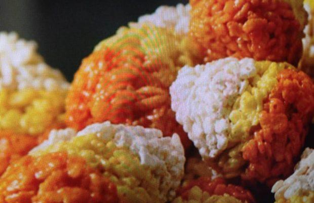 Candy Corn Crispies