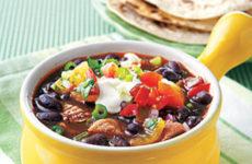 Hearty Black Bean Soup With Shredded Pork