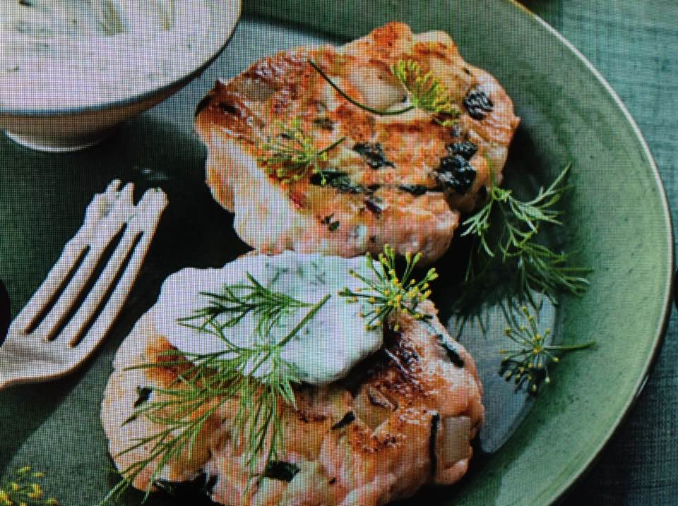 Savory Salmon And Spinach Cakes