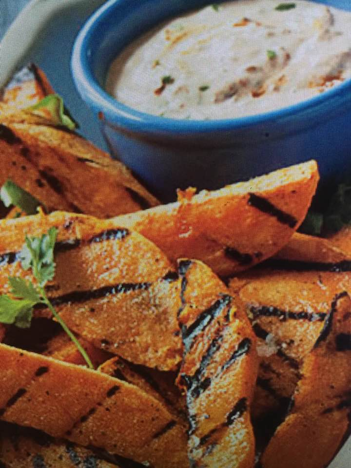Zippy Chipotle Dip With Grilled Sweet Potatoes