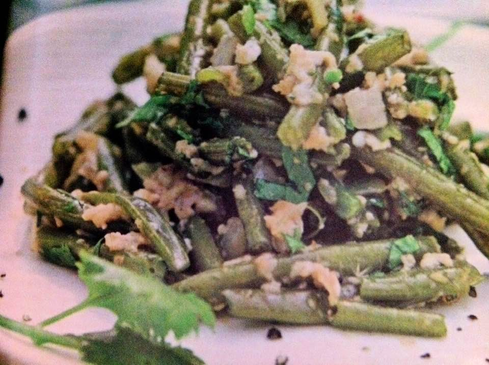 Green Beans With Eggs, Chiles And Cilantro