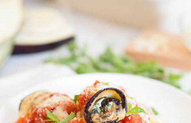 Skinnytaste Eggplant Rollatini With Spinach