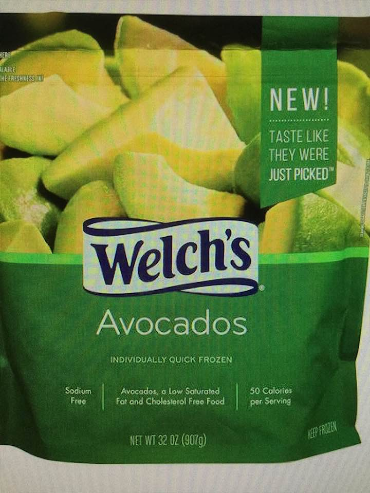 Today's Product Is Welch's Frozen Avocados