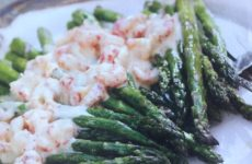 Crawfish Hollanndaise Over Fresh Asparagus