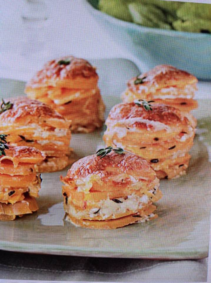 Scalloped Yam Stacks