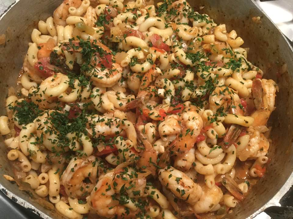 Alice's Simple Tomato And Shrimp Pasta