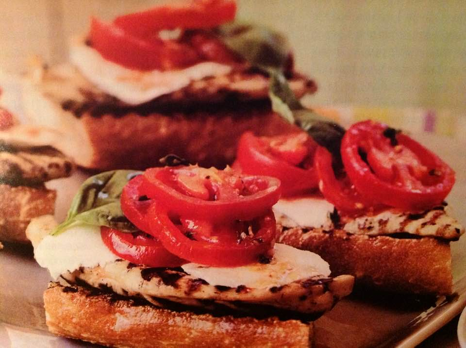 Grilled Chicken Sandwiches With Mozzarella, Tomato And Basil