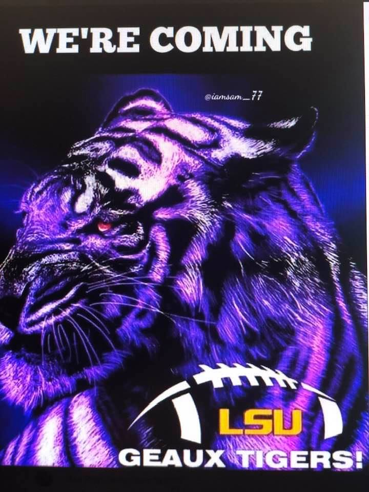 So Close To Kick Off. Geaux Tigers